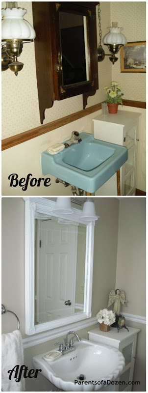 Blue Bathroom Makeover 2