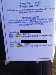 """special"" parking rates"