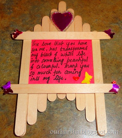 Popsicle sticks or Ice cream sticks Frame  (16)
