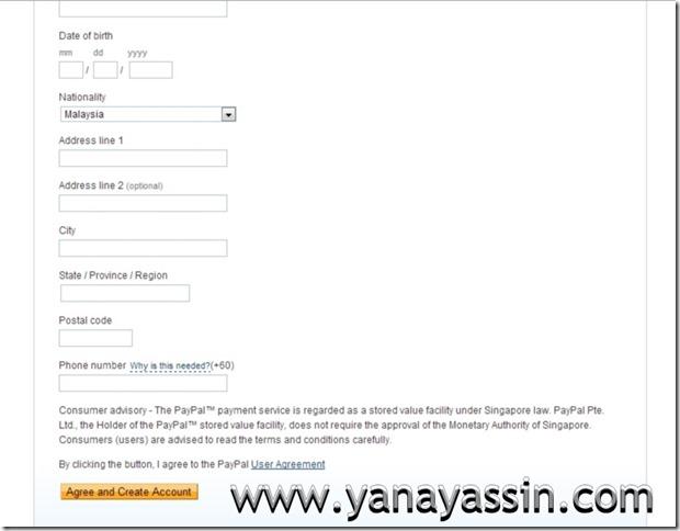Cara daftar Paypal  103