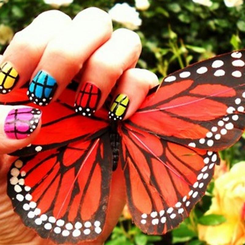Σχεδία νυχιών με πεταλούδες   #1