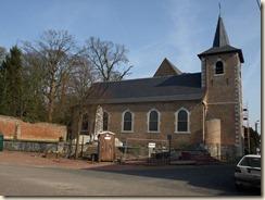 Waasmont, Hoek Handelsstraat en Hoevestraat:  neo-gotische Sint-Pancratiuskerk (1903-04)