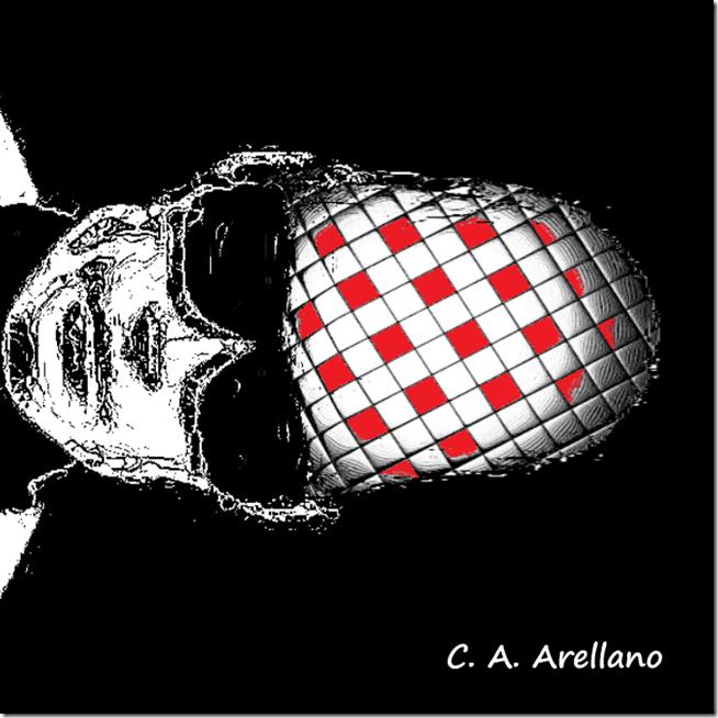 Robot pensando Imagina a los humanos viviendo su vida en paz, de Carlos Alberto Arellano
