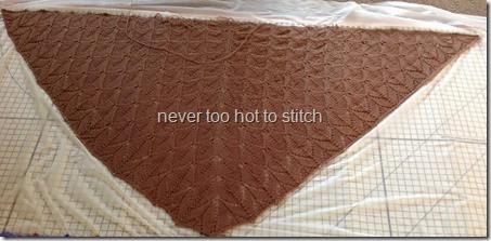 2014 Taupe Buffalo shawl