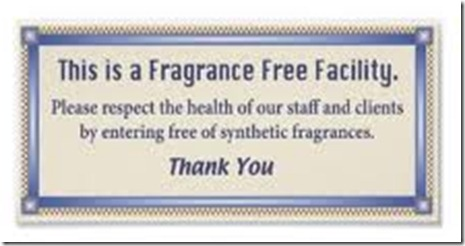 Fragrance Free sign