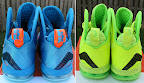 nike lebron 9 ps elite lebron pe china 3 00 Closer Look at Nike LeBron 9 P.S. Blue Flame and Tennis Balls PEs