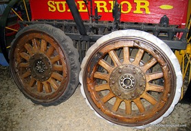 Wooden Wheels with Solid Rubber Tires