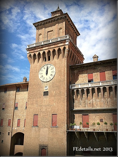 Castello Estense views, Ferrara, Italy, Photo3