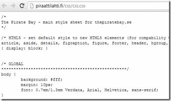 Piraattilahti.fi CSS-tiedosto