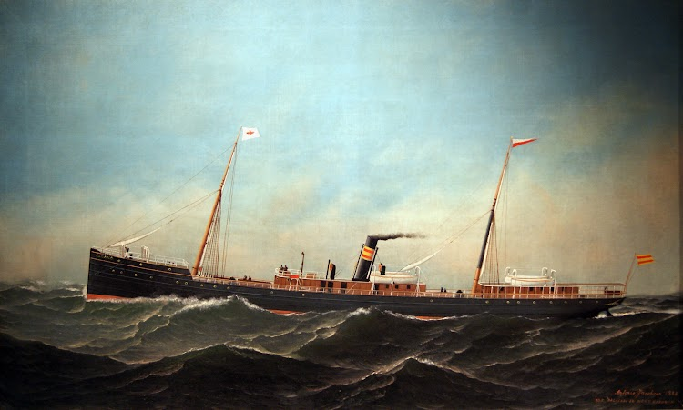 Vapor ELCANO. Cuadro de Antonio Jacobsen. Museu Municipal Maritim de Masnou.jpg
