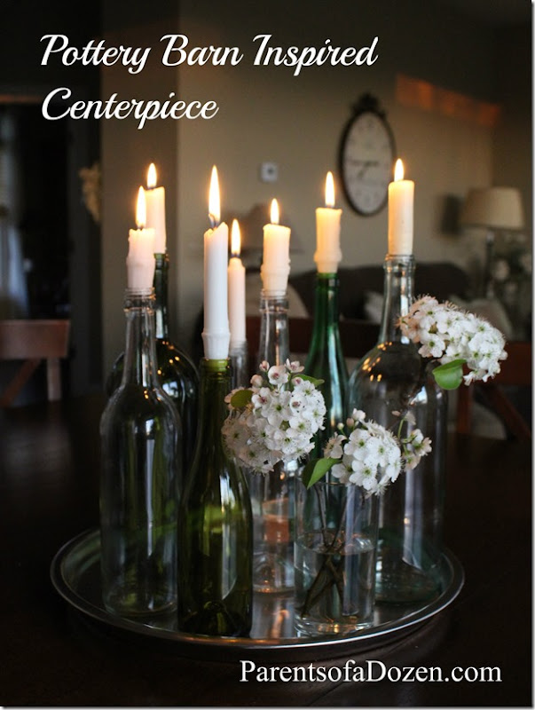 Pottery Barn Inspired Centerpiece