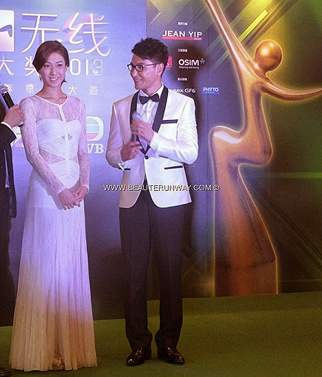 Starhub TVB Awards 2013 Linda Chung Hong Kong Celebrities in Singapore Marina Bay Sands Red green carpet star winners ceremony Everlasting Glow Award Myolie Wu Tavia Yeung