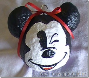 finished mickey ornament