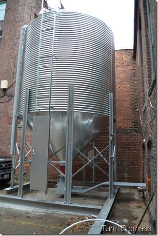 Outside Silo Froling P4 pellet Boiler