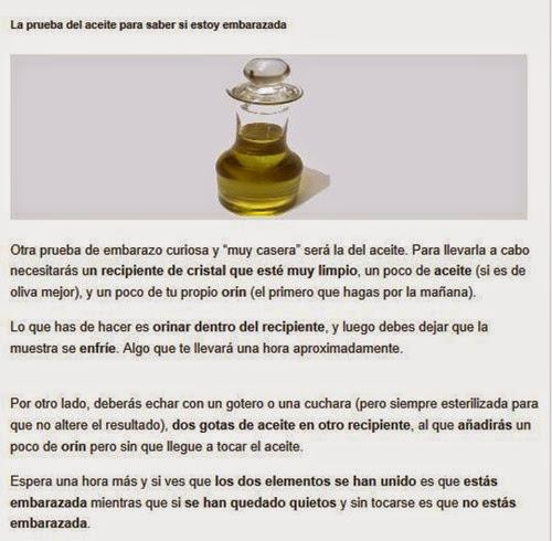 prueba del aceite