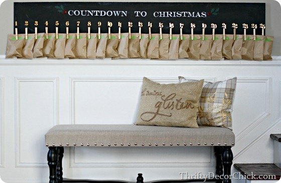 Pottery barn wood advent knock off