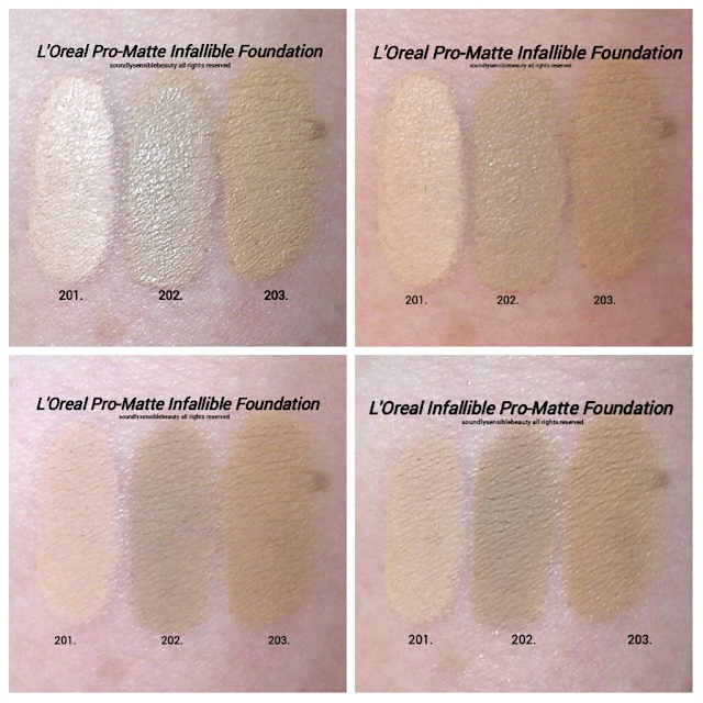 L'Oreal Infallible Pro-Matte Foundation Review & Swatches of Shades