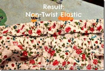 Dress to Skirt Refashion, No Twist Elastic