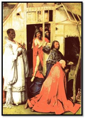 Adoración de los Magos, el Bosco.