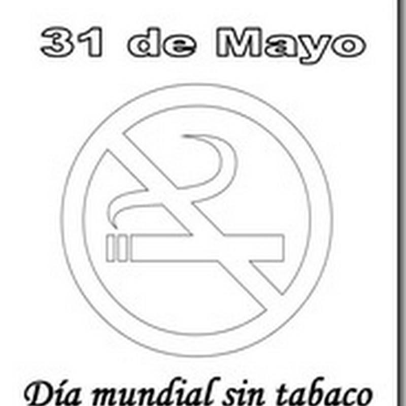 Dibujos día mundial sin tabaco para colorear