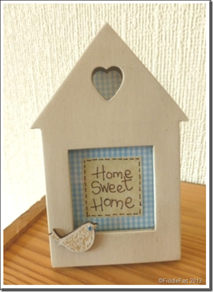 Home sweet home house shaped frame