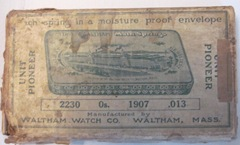 vintage waltham watch box
