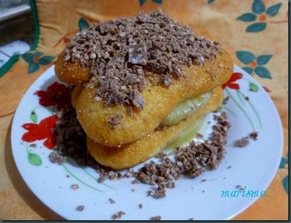 postre de soletillas con piña y turrón de chocolate copia