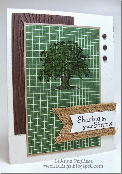 LeAnne Pugliese WeeInklings Lovely as a Tree Sympathy Stampin Up