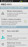 Screenshot of MEO WiFi