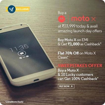 Moto X 16GB Buy Exclusively from Flipkart