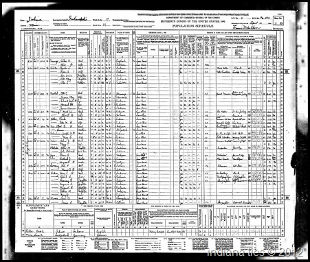 1940 Census Weber Harry