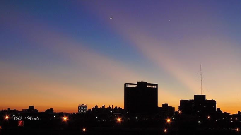 台灣蘇力颱風日出日落