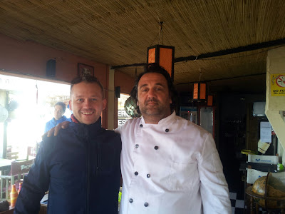 Every good cook is my best friend! ;-) With Bernardo in Punta del Diablo, Uruguay
