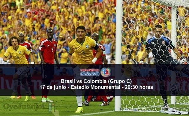 Brasil vs Colombia - 17 de junio - Grupo C