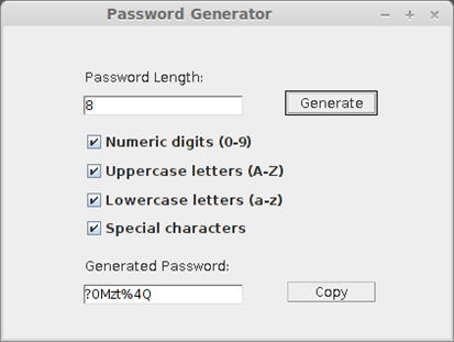 Java Password Generator