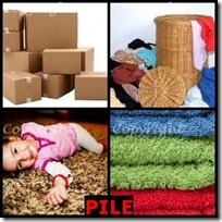 PILE- 4 Pics 1 Word Answers 3 Letters