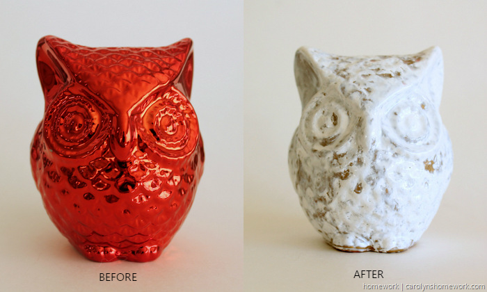DIY Crackle Paint Owl via homework (2)