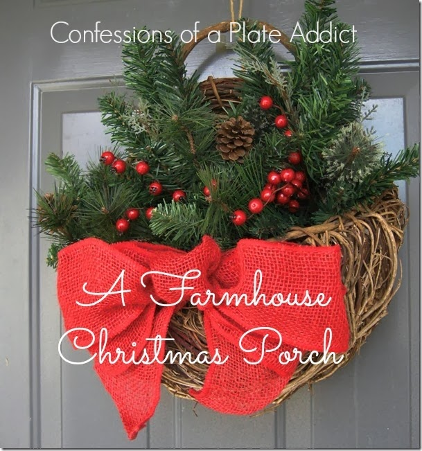 CONFESSIONS OF A PLATE ADDICT A Farmhouse Christmas Porch