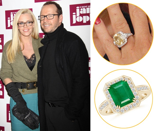 Jenny McCarthy's beautiful colored gemstone ring