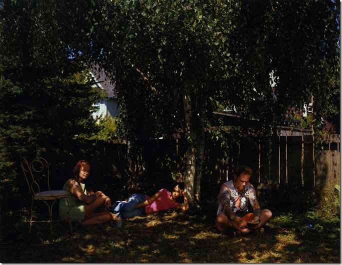 Jeff Wall, Tattoos and Shadows, 2000