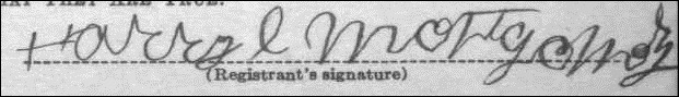 Harry Montgomery signature