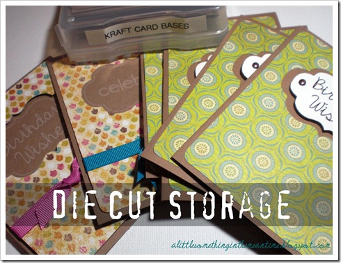 Die Cut Storage Cards