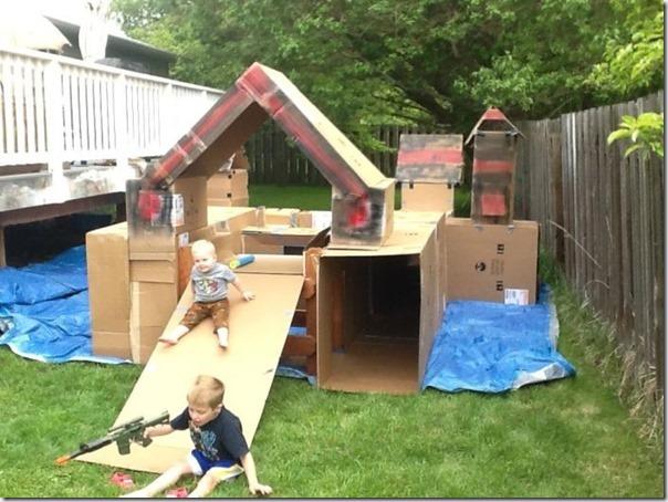 Como fazer um playground com caixas de papelão vazias (5)