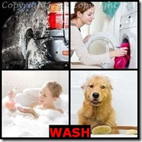 WASH- 4 Pics 1 Word Answers 3 Letters