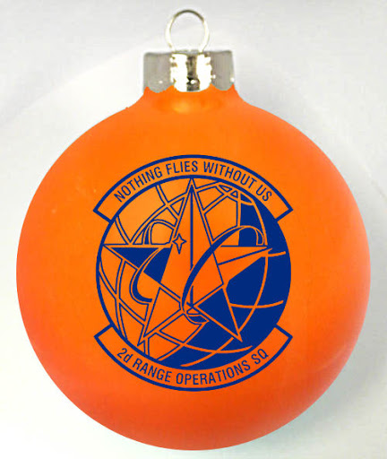 2nd Range Operation Squadron Logo on a Christmas Ornament  custom designed at http://www.fundraisingornaments.com