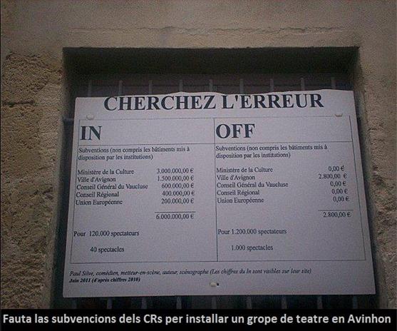 subvencions en Avinhon