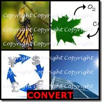 CONVERT- 4 Pics 1 Word Answers 3 Letters