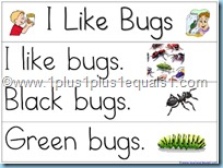 Pocket Chart Printables I Like Bugs