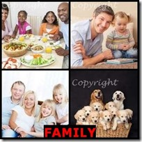 FAMILY- 4 Pics 1 Word Answers 3 Letters