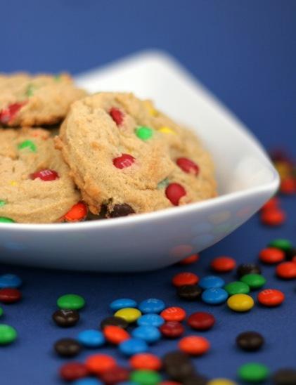 peanut butter m&m cookies 1